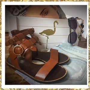 ♨️👠ZARA leather sandals